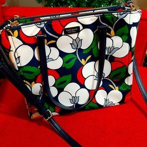 Gorgeous flower print kate spade satchel